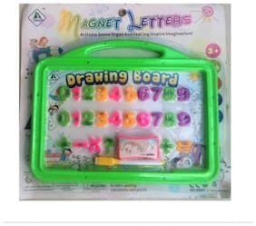 Johnnie Boy Magnetic Numericals with Drawing Board, Duster, Pen,  (Multicolor)
