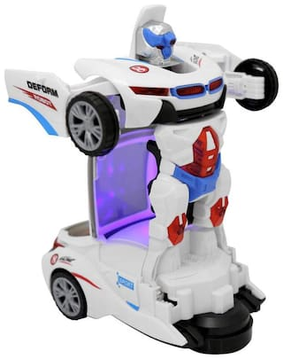 Johnnie Boy ROBOT DEFORM AUTO FUNCTION SPEED CAR WITH 3D SPECIAL LIGHT ( Transforming Car into Robot )  (Multicolor)