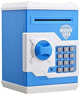 Johnnie Boy ATM Machine With Password Piggy Bank for Kids Coin Bank (Multicolor) Coin Bank  (Multicolor)