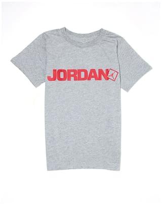 a2cbf321174 Buy Jordan Boy Cotton Printed T-shirt - Grey Online at Low Prices in ...