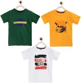 Joven Boy Cotton Printed T-shirt - Multi