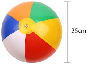 Jumbo 12-24inch Rainbow Color Swimming Inflatable Colorful Beach Play Ball *6pcs