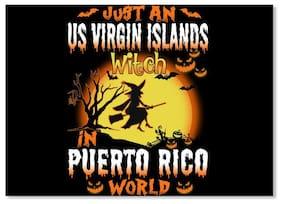 Just An Us Virgin Islands Witch In Puerto Rico World Sticker - Landscape