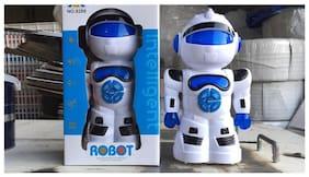 JZL Intelligent Robot No. 9288 Education Learning Toys White & Blue for 3+ Kids