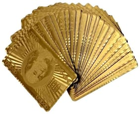 k kudos enterprise Gold Plated Playing Cards For Magic, Poker, Teen Patti, Nightout Fun, Timepass, Build Numerogical Knowledge, Develope Brain Skills