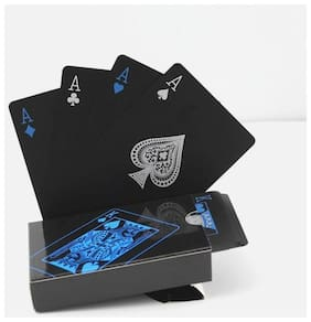 k kudos Enterprise s Brand New Black Playing Cards Deck Magic card Plastic foil poker Durable Waterproof Cards