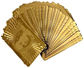 K kudos enterprise Gold Plated Poker Playing Cards ( pack of 1 )
