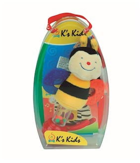 K's Kids Stick Rattle Clever Bee