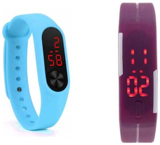 K&U unisex led rubber digital watch
