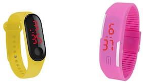 K&U unisex led rubber digital watch