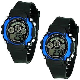 K&U17890 Black Apple Shape Kids LED Digital Watch With Date And Day Display LED Combo Watch For Men And Boys Digital Watch