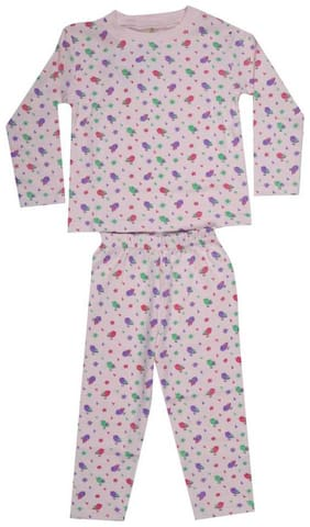 KABOOS Cotton Printed Pink Color Top & Pyjama Set For Boy