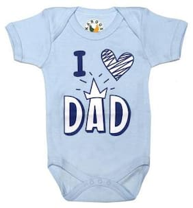 KABOOS Baby boy Cotton Printed Body suit - Blue