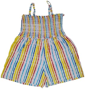 KABOOS Cotton Striped Romper For Girl - Multi