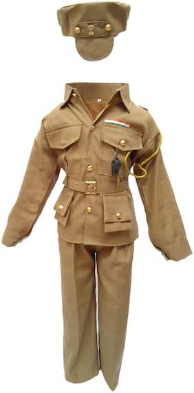 Kaku Fancy Dresses Our Community Helper Police Man Costume -Khaki, 5-6 Years, For Boys & Girls