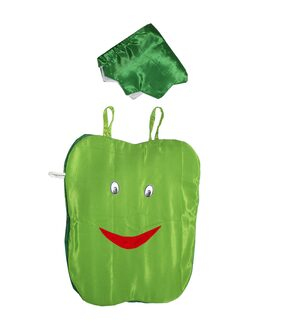Kaku Fancy Dresses Capsicum Vegetables Costume only Cutout with Cap (3-8 Years) for Annual Function/Theme Party/Competition/Stage Shows/Birthday Party Dress