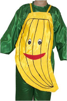 Kaku Fancy Dresses Banana Cutout With Cap For Kids