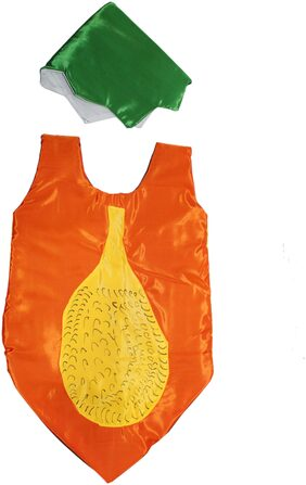 Kaku Fancy Dresses Papaya Cutout With Cap For Kids