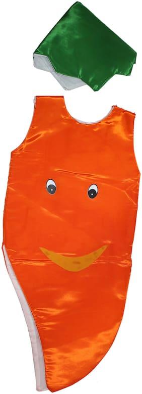 Kaku Fancy Dresses Carrot Cutout With Cap For Kids