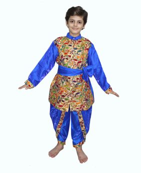 Kaku Fancy Dresses Gujarati Sherwani Costume of Indian Traditional Wear For Kids School Annual function/Theme Party/Competition/Stage Shows/Birthday Party Dress