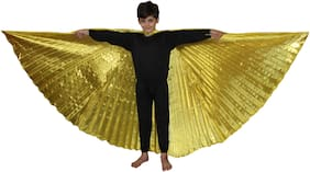 Kaku Fancy Dresses  Bele Wings For Kids Dance Full Size For Kids School Annual function/Theme Party/Competition/Stage Shows Dress FREE SIZE