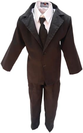 Kaku Fancy Dresses Dr.Bhim Rao Ambedkar National Hero Costume -White & Black, 7-8 Years, For Boys