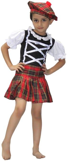 Kaku Fancy Dresses Traditional Wear Scottish Girl Costume Multi