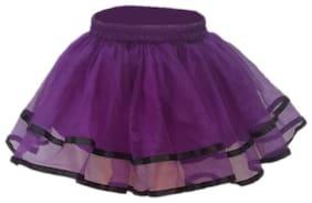 Kaku Fancy Dresses Tu Tu Skirt Costume -Purple, 3-4 Years, For Girls