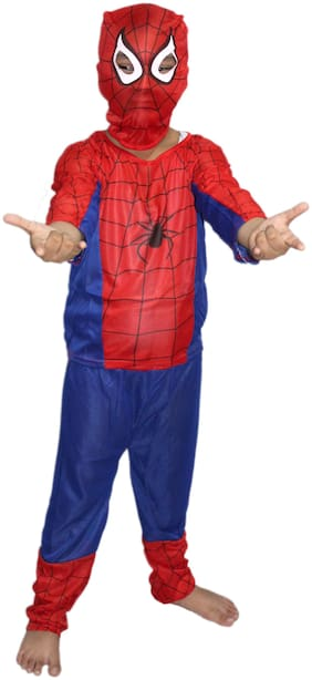 Kaku Fancy Dresses Adults Spider Super Hero Costume -Red-Blue, Full Size, For Boys