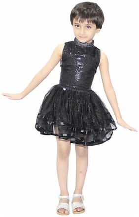 KAKU FANCY DRESSES Polyester Solid Tulip skirt - Black