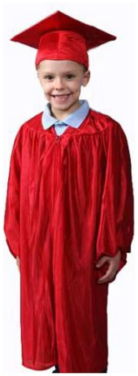 Kaku Fancy Dresses Graduation Gown/Degree Gown Costume For Convocation -Maroon, 7-8 Years, For Unisex