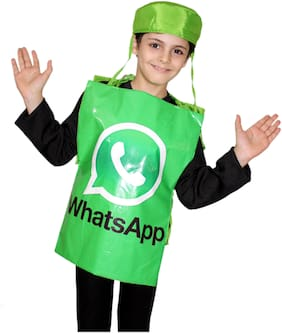 Kaku Fancy Dresses  Social Networking Application Costume,Object Costume For Kids School Annual function/Theme Party/Competition/Stage Shows/Birthday Party Dress FREE SIZE