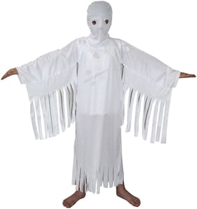 Kaku Fancy Dresses White Ghost Halloween Costume/California Cosplay Costume -White, 3-4 Years, For Unisex