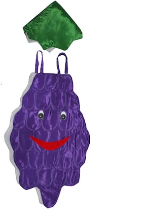 Kaku Fancy Dresses Grapes Cutout With Cap For Kids