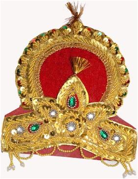 Kaku Fancy Dresses  Double Mukut For Kids Mythological Character/Janamastami/Dushehra/Diwali/School annual function FREE SIZE