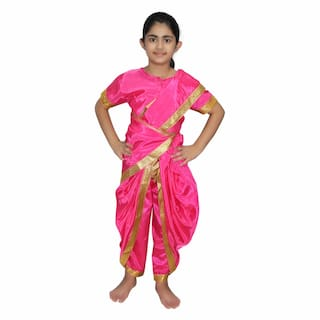 3ea65d4a94a Kaku Fancy Dresses Marathi Girl Indian State Traditional Wear Costume For  Kids School Annual function