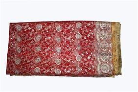 Kaku Fancy Dresses Chunari Full Size 2.25 Meter Fullsize 1 pcs Jari Chunari with Golden Embroidery & Lace used for any Functions