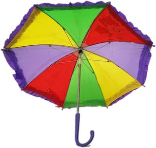 Kaku Fancy Dresses Free size Rainbow Umbrella For Kids School Annual function/Theme Party/Competition/Stage Shows/Birthday Party Dress