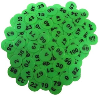 Kamni Sports Plastic Medium Size Numerical Token/Coins Pack Of 1 To 100