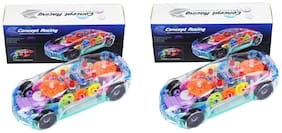 Kanchan Toys Concept Car Amazing Light Car For Kids Pack Of 2