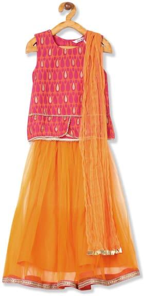 Karigari Baby girl Cotton Printed Kurti & salwar set - Multi