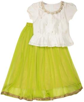 Karigari Baby boy Polyester Printed Kurti & salwar set - Green & White