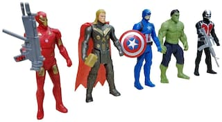 KARLOS Avengers Toys  5 Action Hero Collection ( Multicolor)