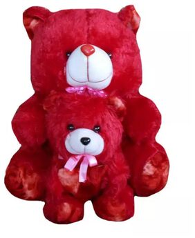 Kashish Toys Red Mother & Baby Teddy Bear .25 inch