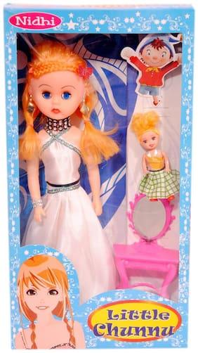 Kashish White Cute Doll Set .