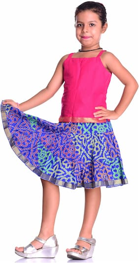 KASTIEL Girl Cotton Top & Bottom Set - Blue