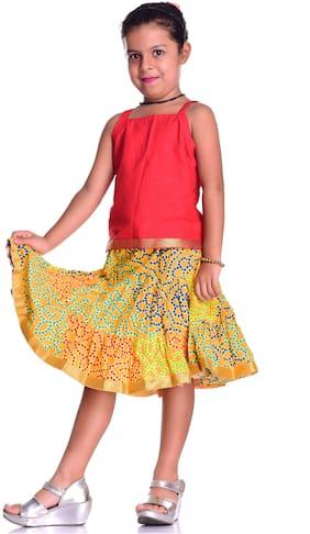 KASTIEL Girl Cotton Top & Bottom Set - Yellow