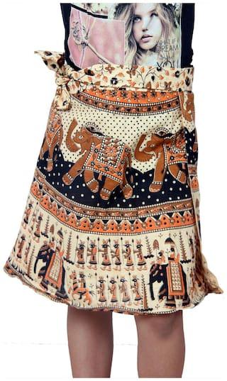 KASTIEL Girl Cotton Printed Wrap skirt - Multi