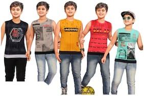 Kavin Boy Cotton blend Printed T-shirt - Multi
