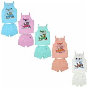Kavin Cotton Printed Top for Unisex Infants - Multi